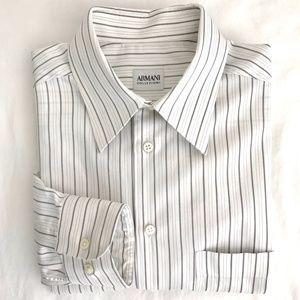 Armani Collezioni Striped Shirt - 15.5/39R
